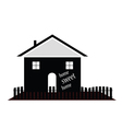 home sweet home silhouette vector image vector image
