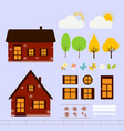 house red brick vector image