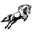 jumping horse vector image vector image