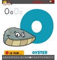 letter o from alphabet with oyster animal