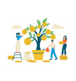 money tree revenue growth concept people take vector image