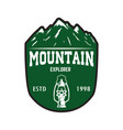Mountain tourism emblem design element for logo