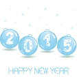 New Year Glass baubles vector image vector image