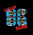 new york real cartoon skatert-shirt design vector image vector image
