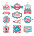old badges and labels for carnival and circus show vector image vector image