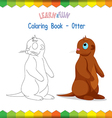 Otter coloring book educational game vector image vector image