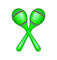 pair of maracas in green design vector image vector image