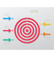 paper target infographics vector image