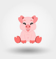 pig happy icon flat design vector image