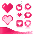 Pixel heart design kit vector | Price: 1 Credit (USD $1)