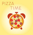 pizza with mushrooms salami tomato and sausage vector image vector image