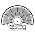 plan of greek theatre is a plans structure layout vector image vector image