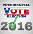 Presidential Vote Election Banner vector image