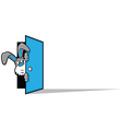 Rabbit Door vector image vector image