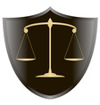 scales of Justiceshield 1 v vector image vector image