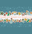 seamless banner on a theme of new year and vector image vector image
