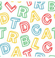 seamless pattern school education vector image
