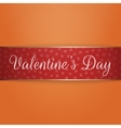 Shiny red and golden Valentines Day Ribbon vector image