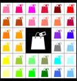 shopping bag sign with tag felt-pen 33 vector image vector image