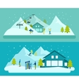 Ski Resort Banner Set vector image