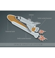 structure of space Shuttle with fuel tanks vector image vector image