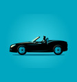 Successful businessman driving a convertible car vector image
