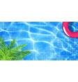 swimming pool top view vector image