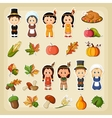 Thanksgiving Harvest icon set vector image vector image