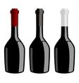 Three bottles of wine vector image