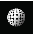 white ball vector image