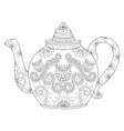 Zentangle stylized ornamental teapod to make a tea vector image vector image