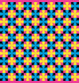 colorful geometric pattern in memphis style vector image