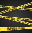 Criminal Scene Yellow Line vector image