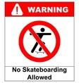a no skateboarding allowed vector image