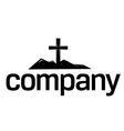 cross silhouette logo vector image
