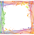 frame of colored wavy lines vector image