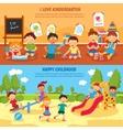 Kindergarten banner set vector image