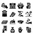 money asset icon vector image