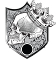 skull crown vector image
