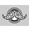 Barbershop logo Black and white vector image