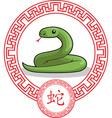 Chinese Zodiac Animal Snake vector image