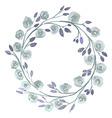 Grey Flower watercolor wreath for beautiful design vector image