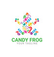 abstract frog candy logo template icon vector image