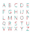 alphabet from the new popular anti-stress toy vector image vector image
