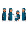 arab muslim old woman poses set elderly vector image vector image