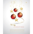 Background with Christmas baubles vector image vector image