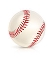 baseball leather ball close-up isolated on white vector image vector image
