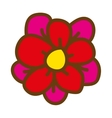 beautiful flower drawing isolated vector image vector image