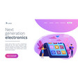bendable device technology concept landing page vector image vector image