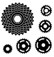 bicycle gear cogwheel sprocket symbols vector image vector image